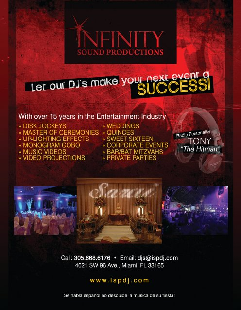 Infinity Sound Productions Print Ad