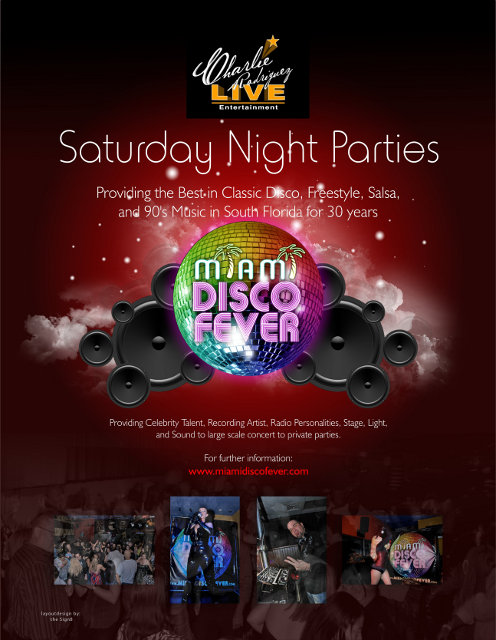 Miami Disco Fever Print Ad