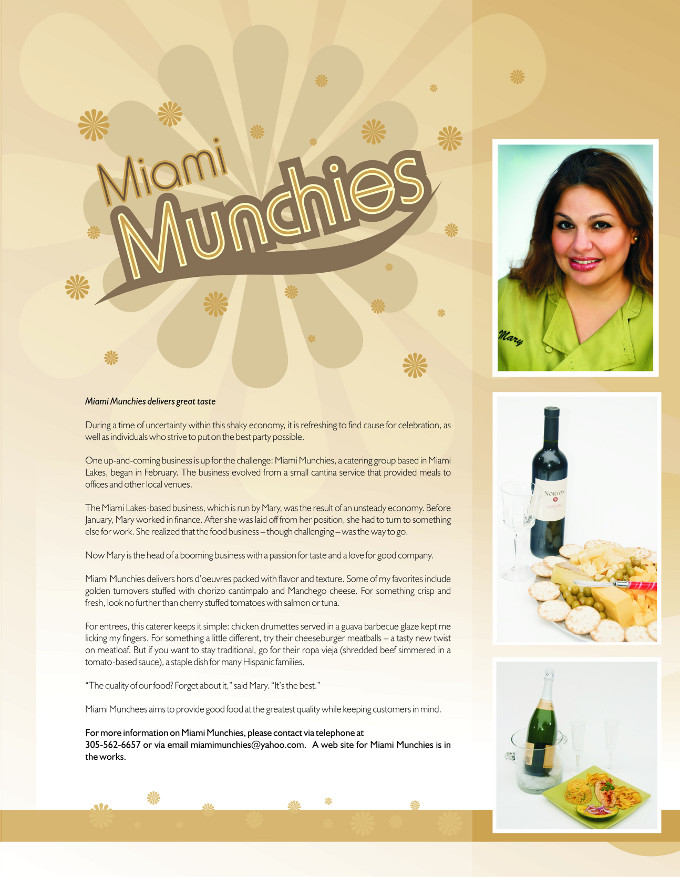Miami Munchies Print Ad and Photography