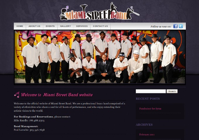Miami Street Band Website