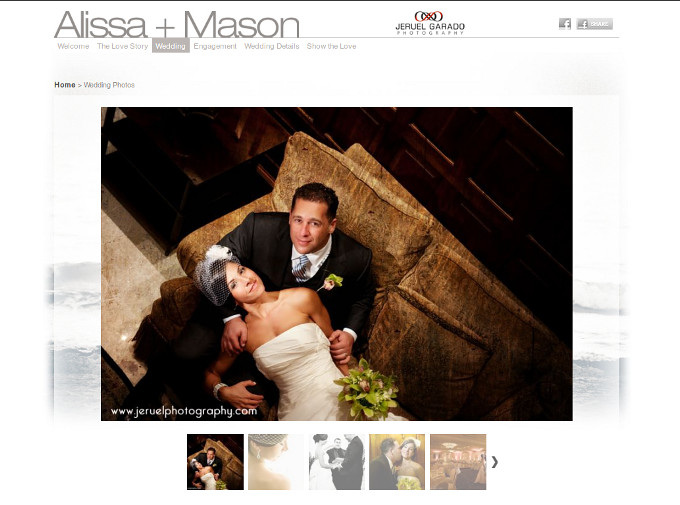 Alissa + Mason Wedding Website
