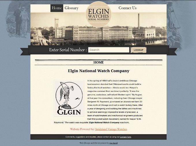 Elgin Watches Serial Numbers