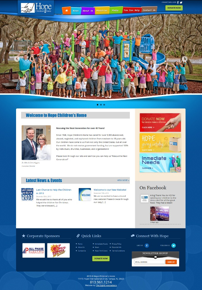Hope Childrens Home Group of Websites