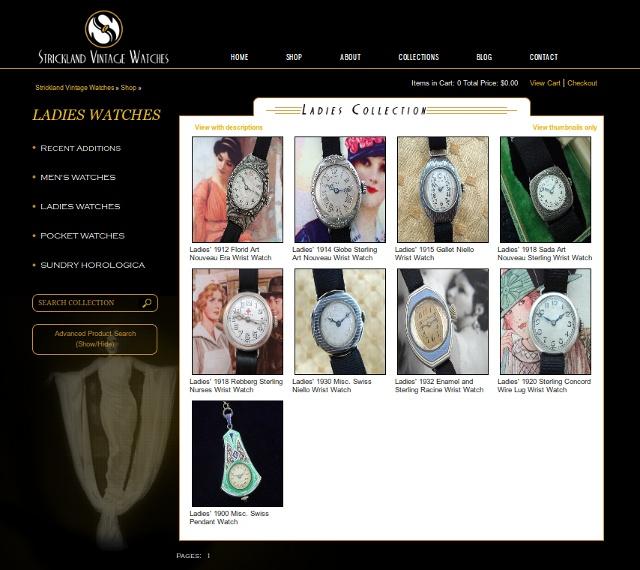 Strickland Vintage Watches