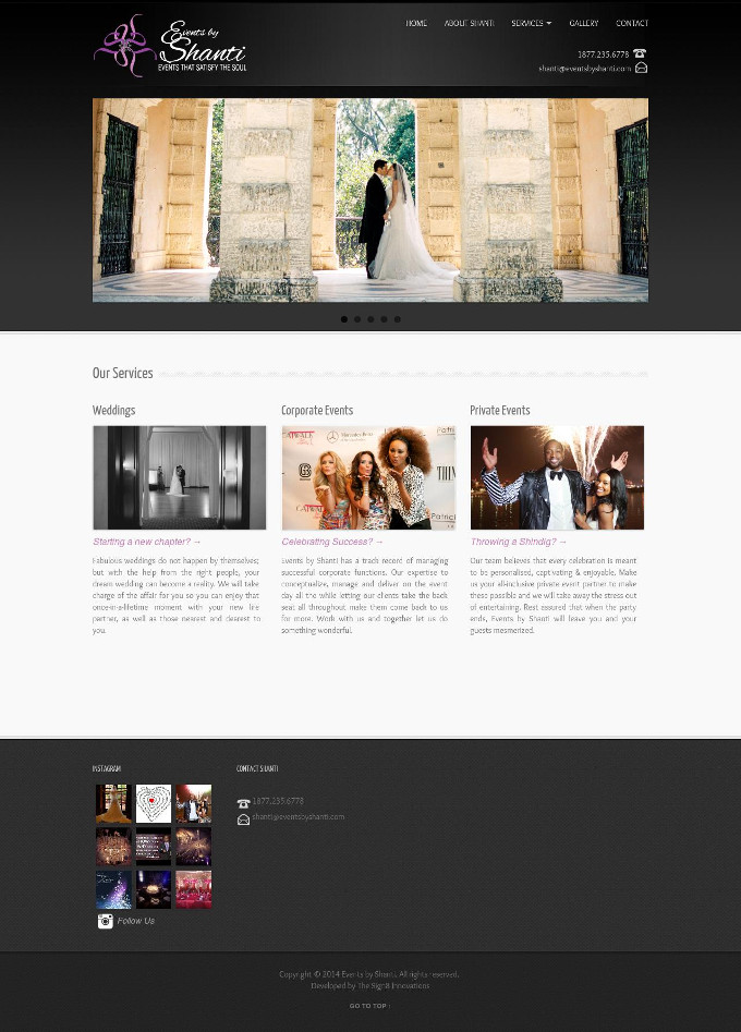 Events by Shanti Website